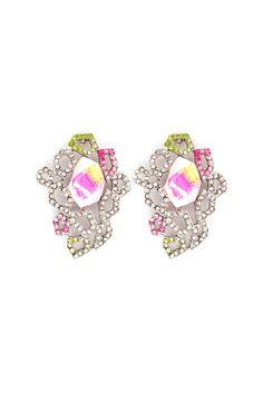 Crystal Margaret Earrings in Orchid