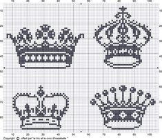 Cross-stitch crowns