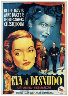 """MP309. """"All About Eve"""" Spanish Movie Poster by Josep Soligó (Joseph L. Mankiewicz 1950) / #Movieposter"""