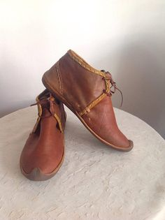 Medieval Period Historical Turkısh Leather Boot by OTTOMANSHOES