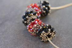beaded beads tutorial, PDF tutorial, DIY jewelry