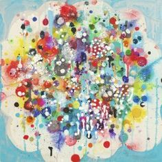 """GumDrop 20x20"""" mixed media on panel by Liz Tran Available at ZINC contemporary"""