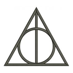 Harry Potter machine embroidery digitized appliques and filled in ...