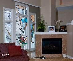 modern stained glass windows | Contemporary Stained Glass Windows....Architectural ... | For the Home