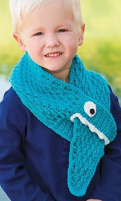 Cute idea for a boy's scarf. #CrochetScarf
