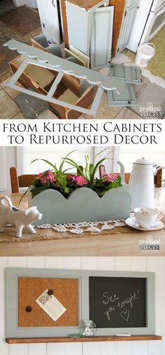 Repurposed Kitchen Cabinets become Home Decor by Prodigal Pieces | www.prodigalpieces.com