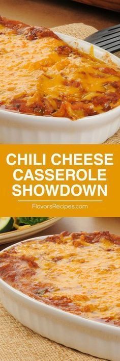 Chili Cheese Casserole Showdown If you're looking for something cheesy, delicious and easy you've come to the right recipe! Not only do my kids adore this recipe but my husband gobbles it down like nobody's business, Potluck Recipes, Mexican Food Recipes, Beef Recipes, Great Recipes, Cooking Recipes, Favorite Recipes, Dinner Recipes, Cheese Recipes, Vegetarian Food
