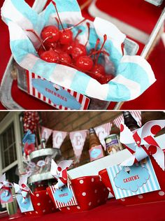 Red, White, & Blue Ice Cream Block Party - so like Bridget and David's wedding - maybe that is why I love it so much!