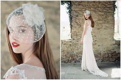polka dot veil by Enchanted Atelia, wedding dress by Claire Pettibone | photo by Laura Gordon