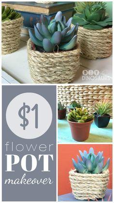 Dollar Store Flower Pot Makeover