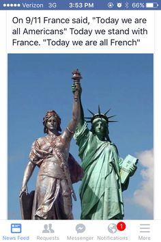 I am with France. I'm trying to think of a picture to draw for France. <3