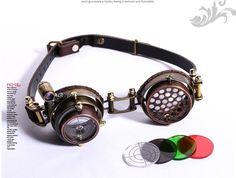 Goggles steampunk RQ-BL 'led illuminator'
