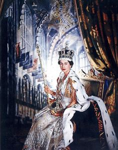 Regal: Her Majesty Queen Elizabeth II posed for this photo after her Coronation on 2 June 1953.