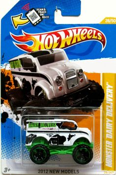 Monster Dairy Delivery Hot Wheels 2012 New Models #28/50 LIFTED #HotWheels #Peterbilt
