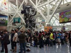 Main entrance to E3 (Electronic Entertainment Expo) in Los Angeles, CA - first day 2013