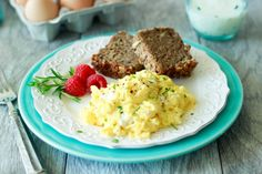 Creamy Goat Cheese and Chive Scrambled Eggs | from Simple Healthy ...