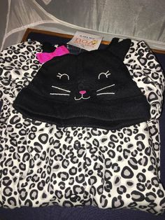 Baby First Halloween Girls 3 Month Cat Costume Pjs Hat Carters Just One You…