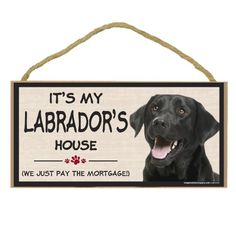 Imagine This Wood Breed Decorative Mortgage Sign, Labrador Black -- Hurry! Check out this great product : Dog Memorials