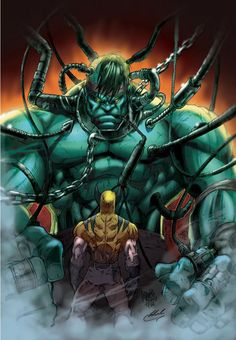 #Hulk #Fan #Art. (Hulk Wolverine Color) By: MARCIOABREU7.