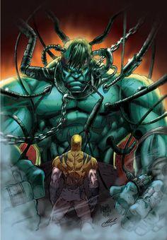 #Hulk #Fan #Art. (Hulk Wolverine Color) By: MARCIOABREU7.