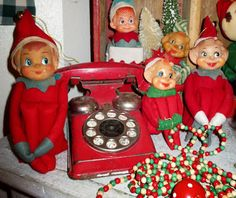 Vintage Kneehuggers with old toy telephone - monkeybox
