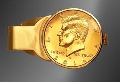 JFK Half Dollar Gold Plated Money Clip C303-JFK3