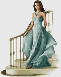 Louisa - cross stitch kit by John Clayton - A lovely lady in a lovely dress making a grand entrance. Cross Stitch Art, Cross Stitch Designs, Cross Stitching, Cross Stitch Patterns, John Clayton, Heritage Crafts, Victorian Women, Sewing Accessories, Lovely Dresses