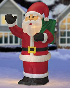 Inflatable Decor, Waving Santa, Snowman, Giant Christmas Train | Solutions #SolutionsPinIt