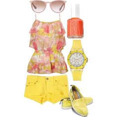 """""""bright summer outfit"""" by bellalee2000 on Polyvore"""