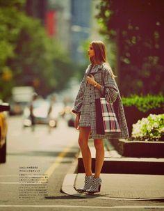 anna selezneva images3 Anna Selezneva Hits the Streets for Guy Aroch in Numéro Tokyo Shoot