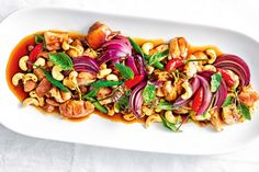 Add spice to your life with this quick and easy caramelised chicken and chilli stir-fry. Stir Fry Dishes, Stir Fry Recipes, Meat Recipes, Wine Recipes, Asian Recipes, Chicken Recipes, Cooking Recipes, Ethnic Recipes, Asian Foods