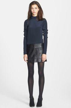 Pretty! Silk & Leather Shift Dress
