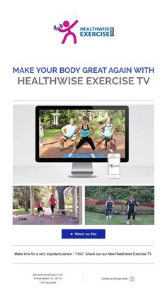 ► Watch on Site Fitness Online, Make Time, How To Make, Ormond Beach, Exercise, Make It Yourself, Watch, Tv, Ejercicio