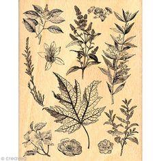 Tampon Un doux matin d'hiver - Fond feuilles - 10 x 13 cm - Photo n°1