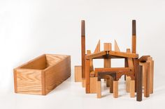 Wooden Toy Blocks Developmental Montessori by asummerafternoon