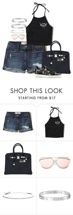 """Untitled #2400"" by moxfordf on Polyvore featuring Hollister Co., Hermès and Roberto Marroni"
