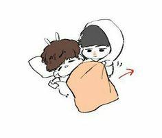 JJM:*nhìn chằm chằm* ngủ chung chắc ấm lắm!!!
