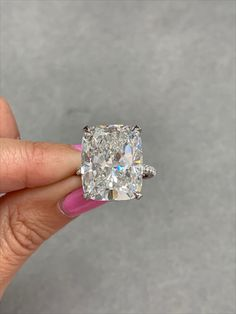 Check out this stunning 20 carat elongated cushion cut near colorless diamond ring by Miss Diamond Ring! Enjoy 5 Star Engagement Ring Concierge service from one of the leading high jewelry industry experts in the world. Experience the new standard in ring shopping today.  ✨Sparkle@Missdiamondring.com #diamondring #diamondrings #engagementrings #engagementring #proposal #proposalstory #engagement  #diamond #weddingproposal#20caratring #20carat #20carats #20caratengagementring… Harry Winston Engagement Rings, Radiant Cut Engagement Rings, Luxury Engagement Rings, 20 Carat Diamond Ring, Cushion Diamond Ring, Cushion Cut Diamonds, Tiffany Engagement, Feminine Energy, High Jewelry