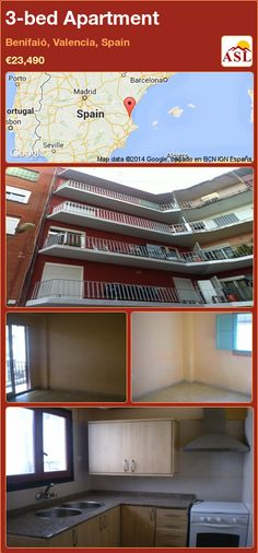 3-bed Apartment in Benifaió, Valencia, Spain ►€23,490 #PropertyForSaleInSpain