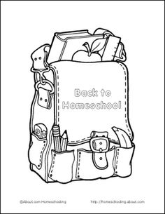 Back to School Printables: Back to Homeschool Coloring Page