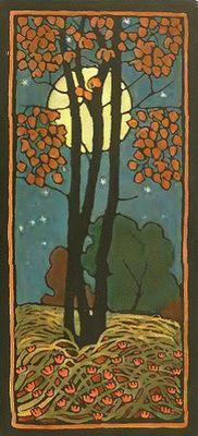 Paul Burck. Sommernacht tapestry design, c1899.