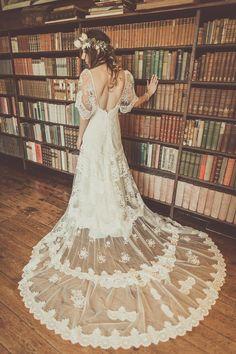 Yolancris for a Boho Bride and her Laid Back, Late Autumn Barn Wedding