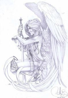 Art Nouveau Tattoo, Tatuaje Art Nouveau, Fist Tattoo, Mädchen Tattoo, Tattoo Drawings, Tattoo Flash, Tattoo Sketches, Drawing Sketches, Pencil Drawings