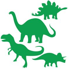 Dinosaur Wall Decal 4 Pack -  Laptop Decal  - Wall Stickers - Car Decal