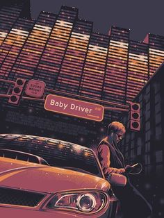 Fan of action thrillers and want some cool posters from Baby Driver? Check out our awesome Baby Driver poster collection. Baby Driver Poster, Film Baby Driver, O Film, Film Serie, Wallpaper Animes, Animes Wallpapers, Wallpapers Vintage, Movie Poster Art, Action Movie Poster