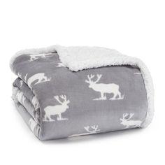 7389a5bc Eddie Bauer 216685 Elk Sherpa Plush Throw Grey 50 x 60 #EddieBauer #Cottage