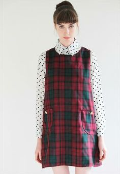 Dorothy Tartan Pinafore Dress.