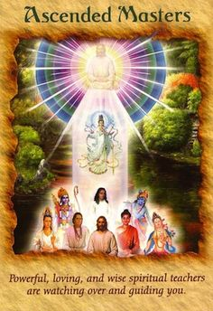 This card indicates that you have a strong connection with one or more ascended masters - powerful teachers and healers who once walked the earth.  Many are associated with religions, such as Jesus, Quan Yin, the saints, Moses, Mother Mary, Ganesh, and so forth...
