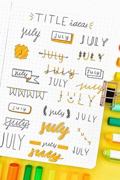 The ultimate collection of bullet journal header and title ideas for inspiration! Wether you're changing up your entire theme or just one spread, these awesome bullet journal header and title ideas will help you decorate with ease! Bullet Journal School, Bullet Journal Inspo, Bullet Journal Writing, Bullet Journal Headers, Bullet Journal Banner, Bullet Journal Aesthetic, Bullet Journal Ideas Pages, Tittle Ideas, Journal Fonts