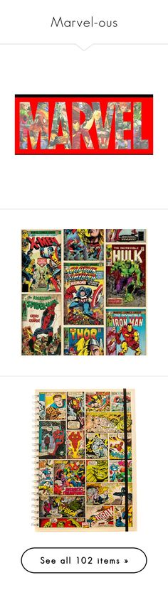 """Marvel-ous"" by synonymtograce ❤ liked on Polyvore featuring marvel, home, home decor, wall art, photos, photo poster, marvel posters, marvel wall art, framing posters and paper wall art"